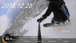 【パウダー天国】ロッテアライリゾート スノーボードフリーラン自撮り【Deep Powder】【暴風雪警報発令中】Lotte Arai Resort snowboard 2018.12.28[スノボ]