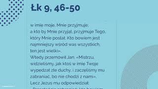 #Ewangelia | 1 października 2018 | (Łk 9, 46-50)