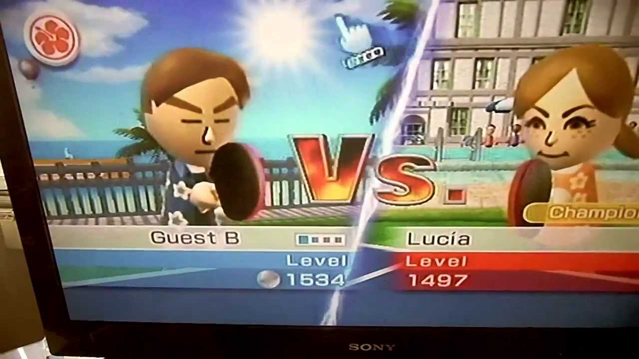 Wii Sports Resort Table Tennis (getting To The Champion
