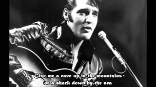 Elvis Presley - Anyplace Is Paradise (with lyrics on the screen)