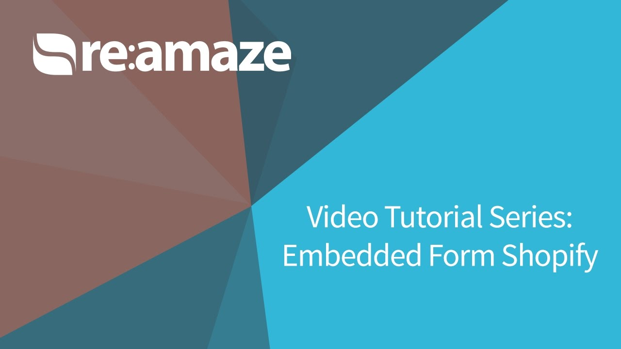 Reamaze Tutorial: Embedded Contact Form for Shopify - YouTube