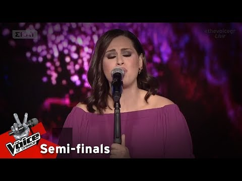 Τζωρτζίνα Αλεξάκη - Καίγομαι και σιγολιώνω | 1ος Ημιτελικός | The Voice of Greece