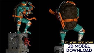 💥 Download STL Miguel Angel Tortugas ninja / Ninja Turtles (TMNT) 3D Model Fanart version