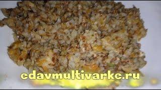 Как приготовить гречку со свининой и овощами в мультиварке