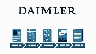 Bewerbungsprozess für eine Ausbildung in der Daimler AG