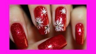 Новогодний маникюр СНЕЖИНКИ - New Year Nails