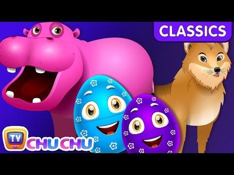 ChuChu TV Classics - Learn Wild Animals & Animal Sounds   Surprise Eggs Wildlife Toys