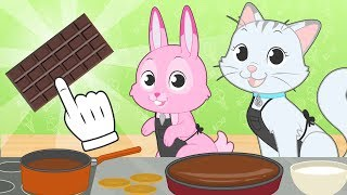 BABY PETS Kira and Ruby Make Birthday Cake for Max 🎂 Easy Recipes for Kids