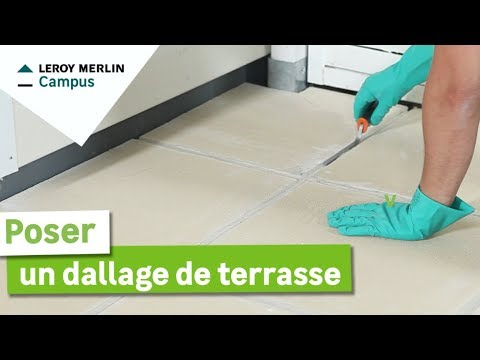 Comment Poser Un Dallage De Terrasse Leroy Merlin
