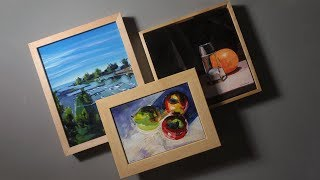 3 Ways to Frame Canvas Panels