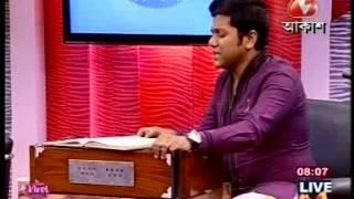 gourab sarkar sings tomar bhubone phooler melay in aakash bangla
