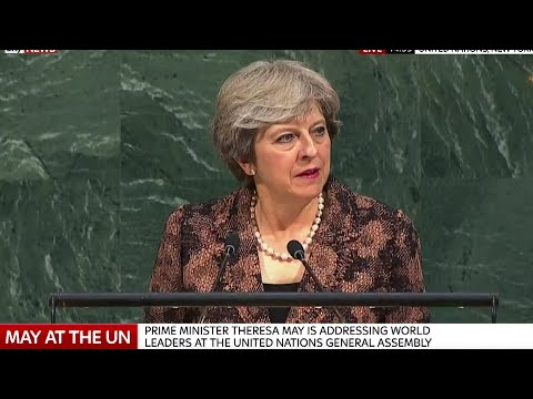 Theresa May Speech at United Nations General Assembly - 20th September 2017