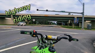 Фото Riding Pitbike On Highway