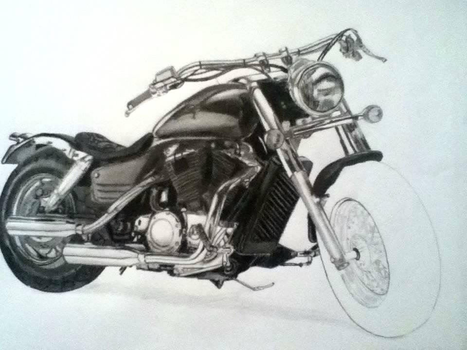 Harley Davidson Dibujo - YouTube