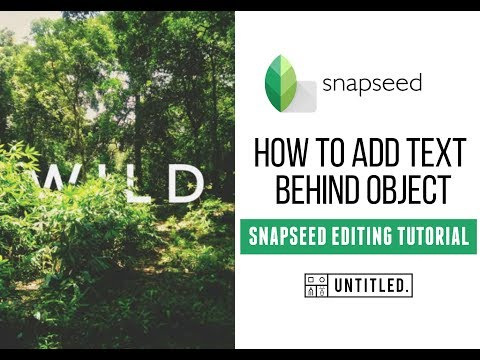 How To Add Text Behind Object | Snapseed Editing Tutorial | Typography