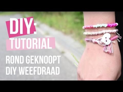 Sieraden maken: Rond geknoopt DIY weefdraad ♡ DIY