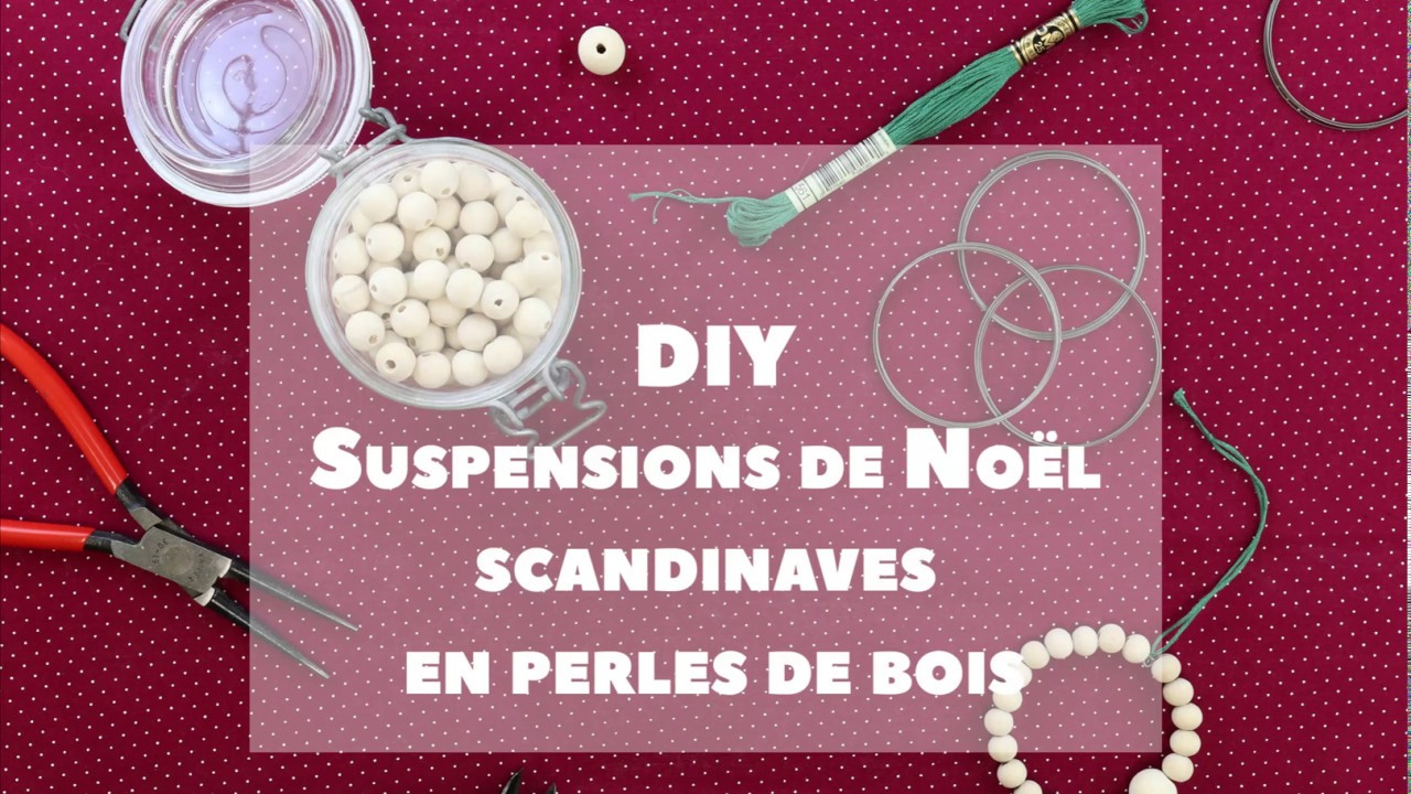 Suspensions Scandinaves Diy Des Suspensions De Noël Scandinaves En Perles De Bois