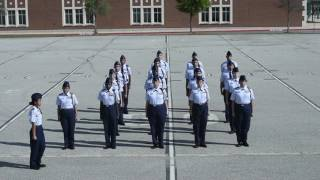 AFJROTC 30 Step Drill Sequence Demo