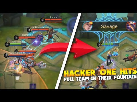 Reacting To Hacker Playing Ranked in Mobile Legends Hack Gameplay