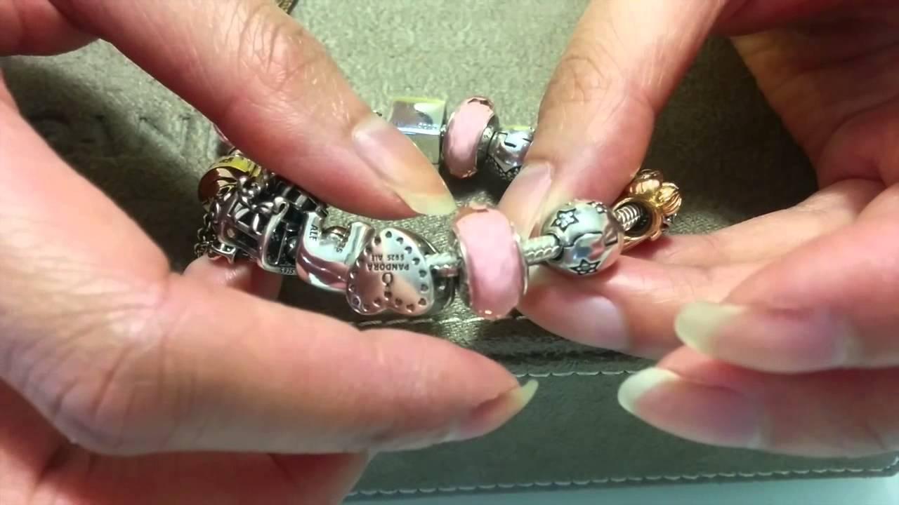 My Pandora Bracelet Collection Part 1 Youtube