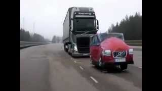 Volvo Truck (Collission warning with emergency Brake)