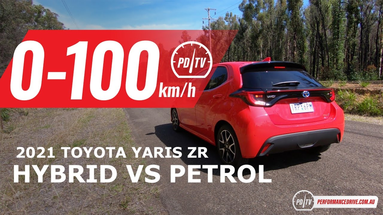 2021 Toyota Yaris Hybrid Vs Petrol 0 100km H Engine Sound Youtube