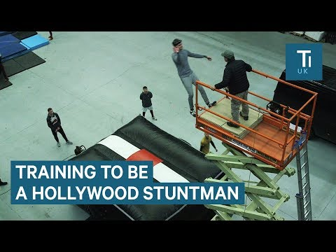 Spending a day training at a Hollywood stunt school