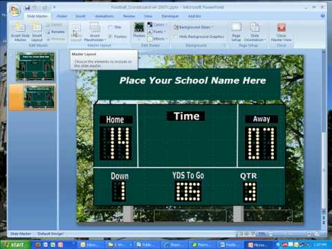 Pics for scoreboard template for powerpoint for Scoreboard template for powerpoint