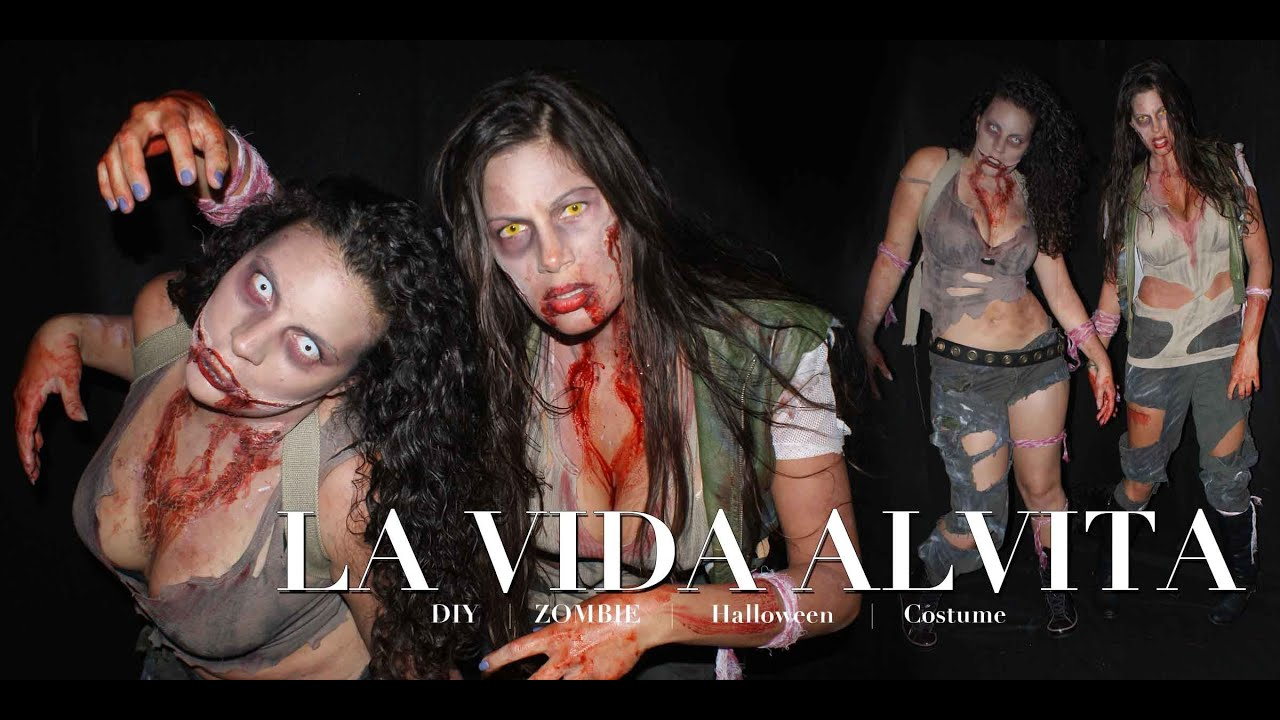 Diy walking dead inspire zombie costume and makeup no sewing diy walking dead inspire zombie costume and makeup no sewing giveaway youtube solutioingenieria Image collections