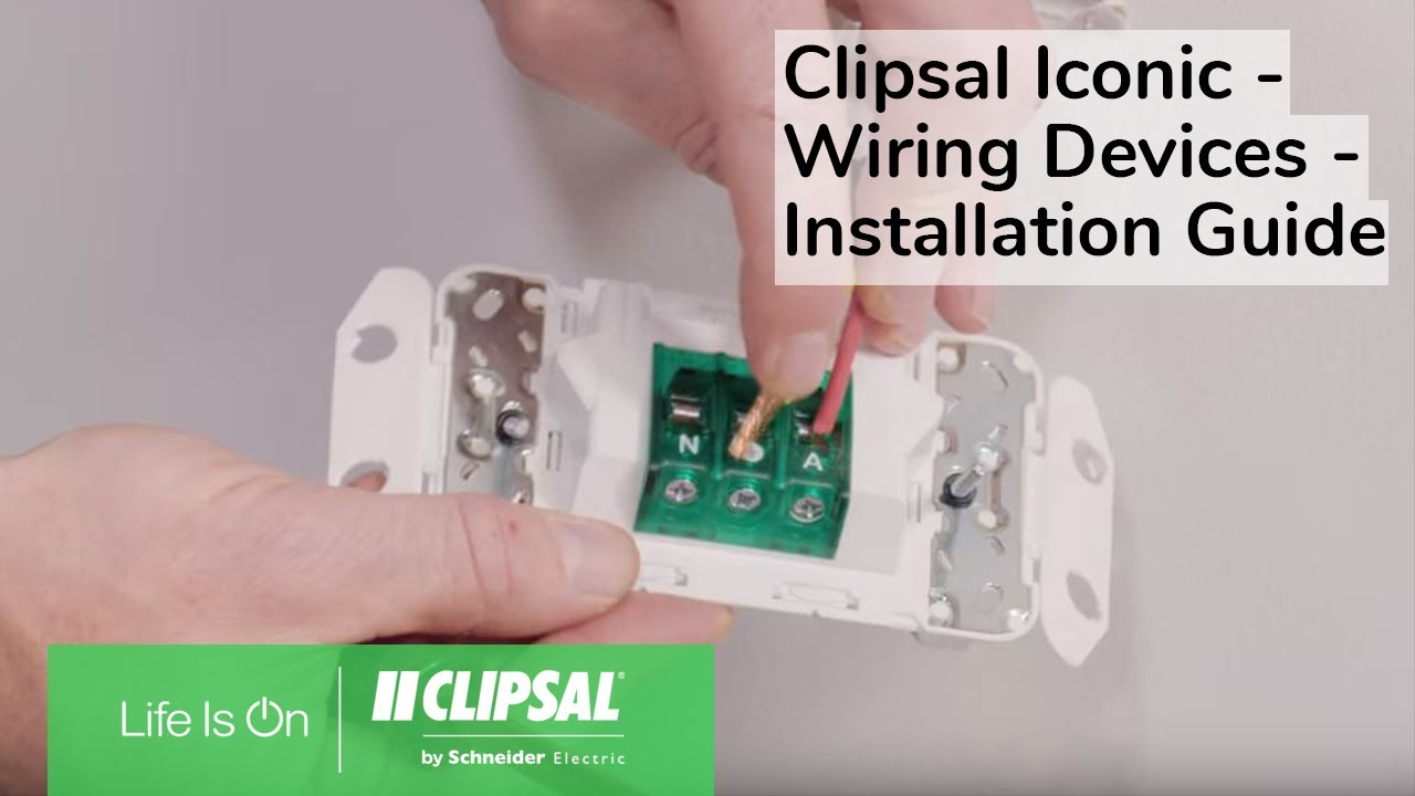 Clipsal Iconic Wiring Devices Installation Guide Youtube