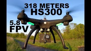 Holy Stone HS300 5.8 FVP 313 Meters 1027 FEET FLY OUT 1080p Camera Drone Review