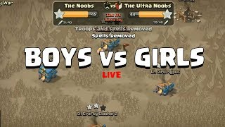 Boys vs Girls Clan War | Clash of Clans Ft. Indian Clasher vs Top Girl Clashers