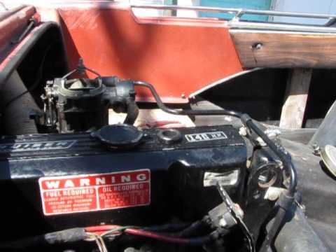 Mercruiser 140 Hp  Marine Engine Complete Running ,Fresh Water 1973