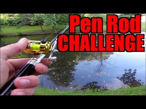 MICRO PEN ROD FISHING CHALLENGE!