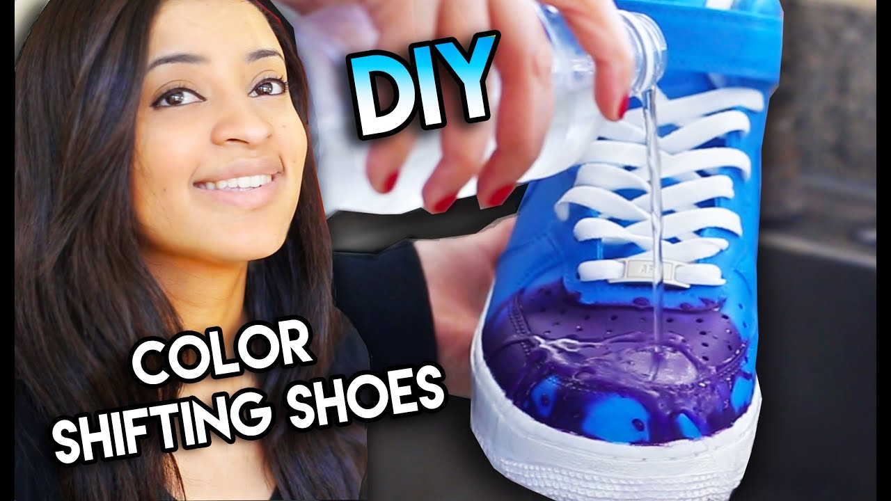 How To: Color Changing Shoes With Water Heat Solar & Blacklight ...