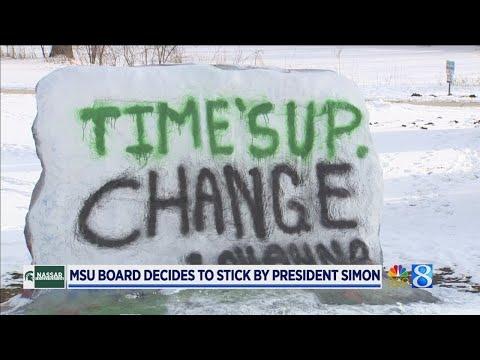 MSU board backs president, asks for Nassar case review