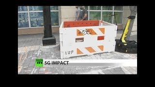 New video: Tearing up sidewalks for 5G future