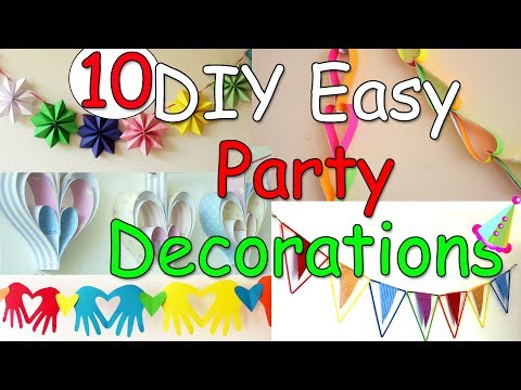 10 DIY Easy Party Decorations Ideas - Ana | DIY Crafts