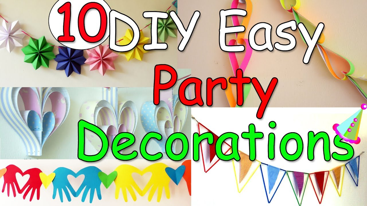 10 diy easy party decorations ideas ana diy crafts for B day party decoration ideas
