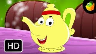 Estoy Un Poco olla de Té inglés - canciones infantiles - Animación/ dibujos animados de Canciones Para Niños