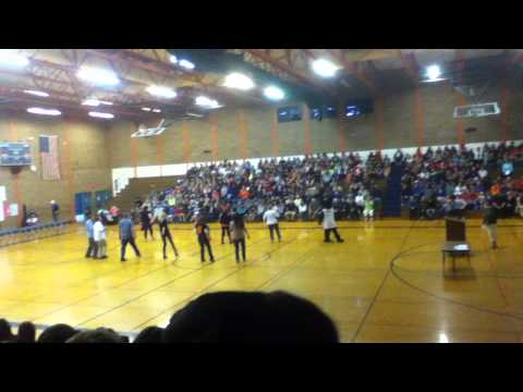 Teachers Dancing at Assembly (Park Place Middle School)