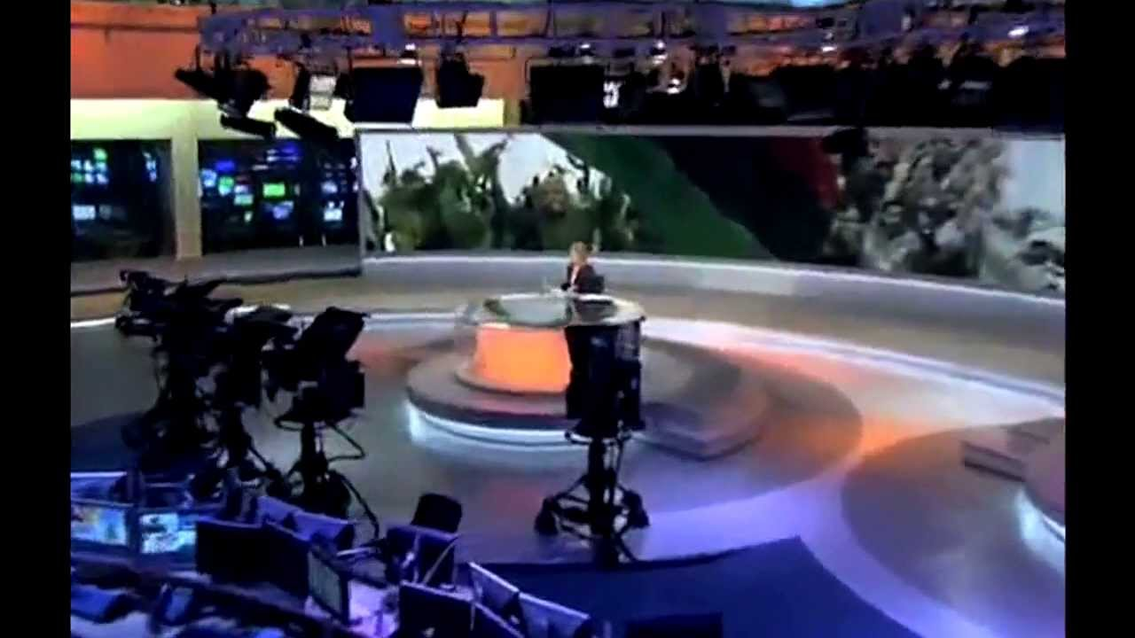television new studio newsroom opening clips compilation