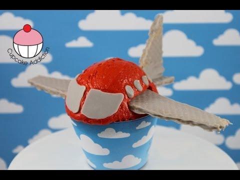 Make Aeroplane Cupcakes! Mini Jet Plane Cakes - A Cupcake Addiction How To Tutorial