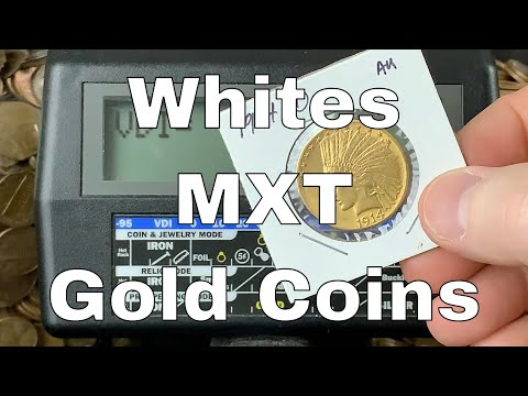 White's MXT Metal Detector - GOLD Coins VDI Numbers