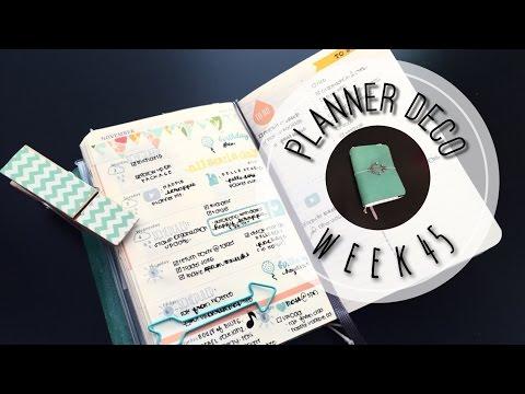 Planner Deco Week 45 (Pocket Moleskine Weekly Planner)