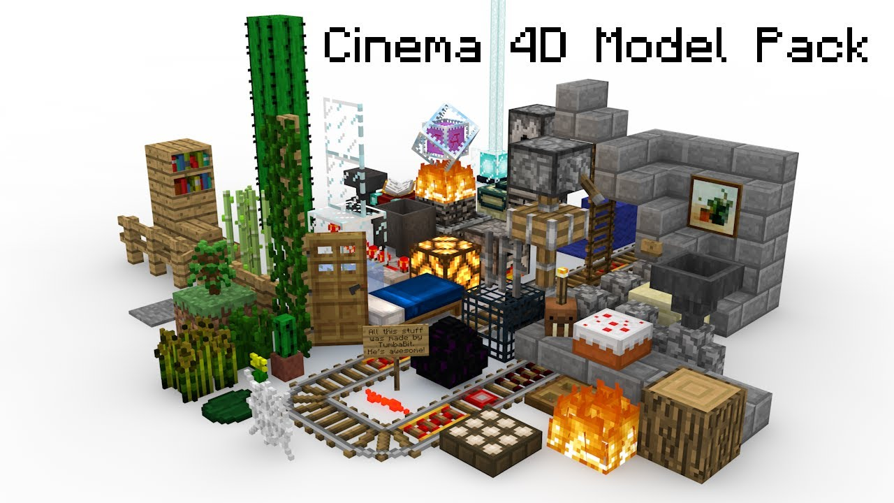 Minecraft Model Pack for Cinema 4D - YouTube