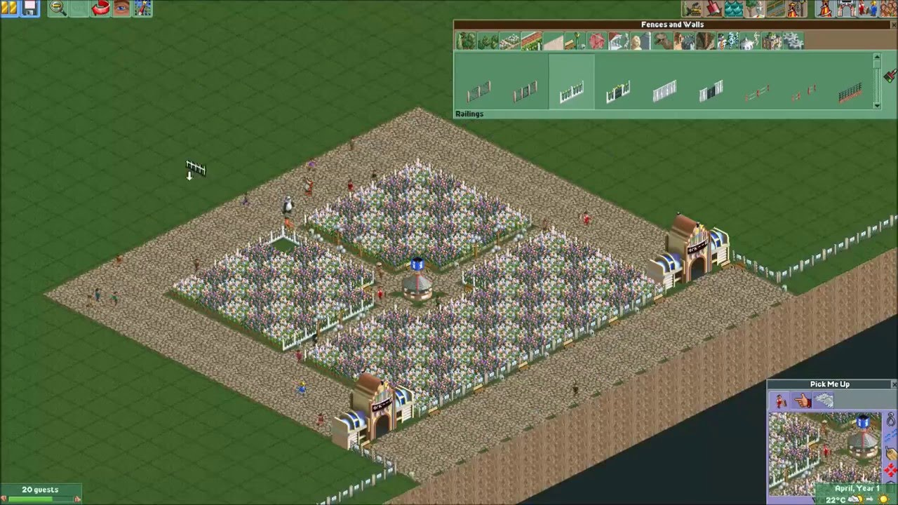 Roller Coaster Tycoon 2 #1 256 x 256 map size!!!