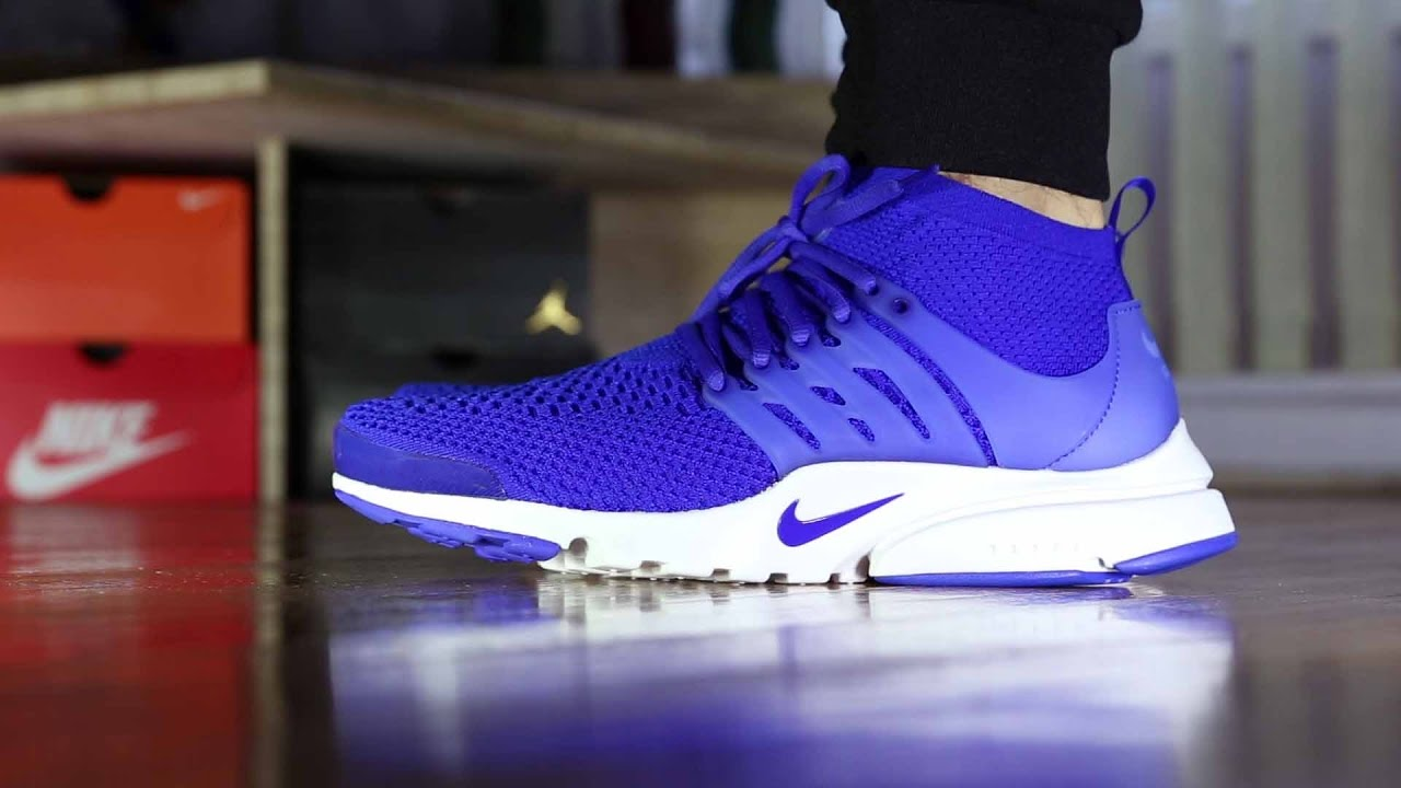 18cc4bdf55c4 Nike Air Ultra Flyknit Presto Review and On Feet (vs Nike Sock Darts) -  YouTube