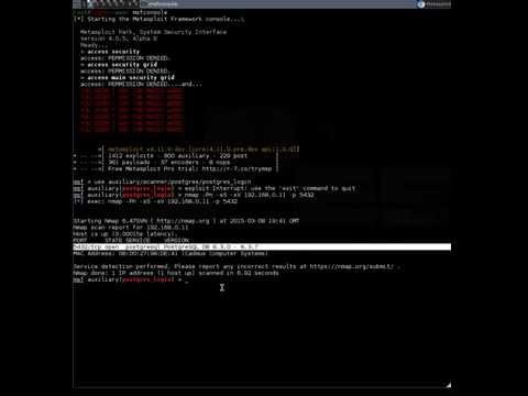 Exploiting PostgreSQL VIA Default Passwords List