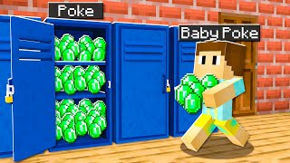 5 Ways To Steal Baby Poke's Emeralds In Minecraft!